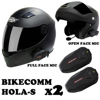 View Item Bikecomm HOLA-S Bluetooth Intercom Twin Pack